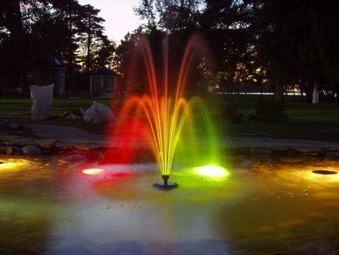 Декоративное освещение водоемов