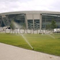 Зона отдыха вокруг стадиона Донбасс-Арена