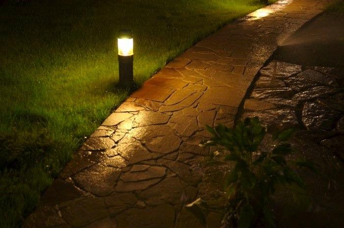 LED светильники в дизайне ландшафта